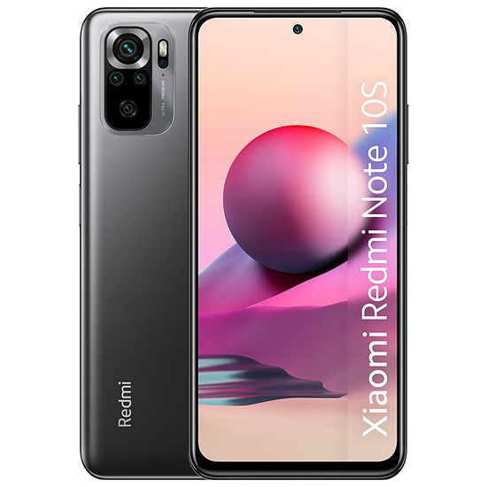Smartphone et téléphone mobile Xiaomi Redmi Note 10S (gris) - 64 Go