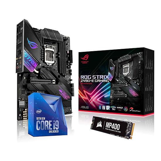 Kit upgrade PC Intel Core i9-10850K + ASUS STRIX Z490-E + SSD Corsair 2 To