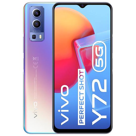 Smartphone et téléphone mobile Vivo Y72 5G (Bleu) - 128 Go