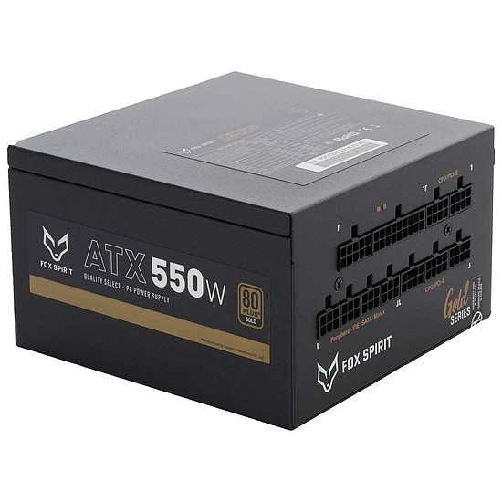 Alimentation PC Fox Spirit US-550G V2 - Gold
