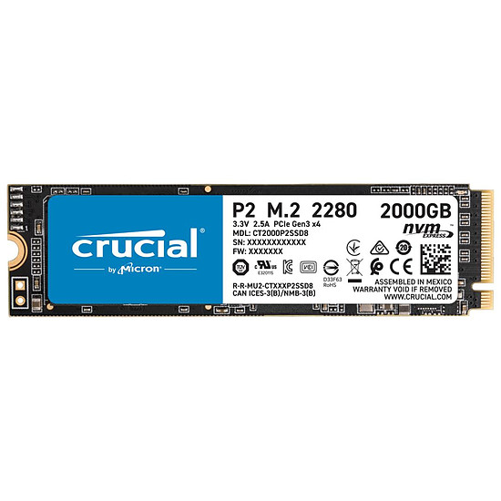 Disque SSD Crucial P2 - 2 To