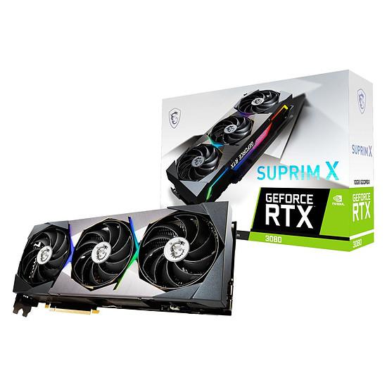 Carte graphique MSI GeForce RTX 3080 SUPRIM X 10G LHR