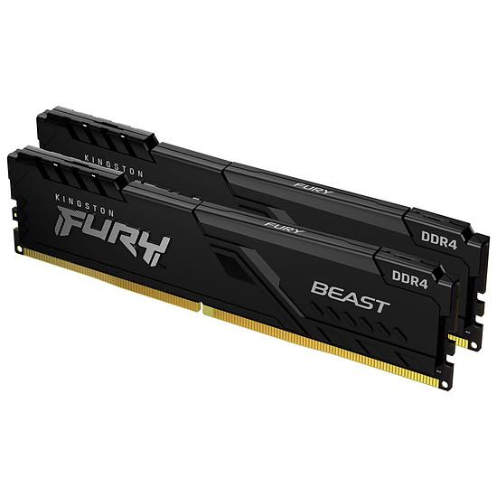 Mémoire Kingston Fury Beast - 2 x 4 Go (8 Go) - DDR4 2666 MHz - CL16