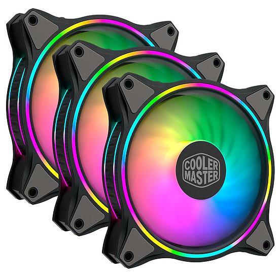 Ventilateur Boîtier Cooler Master MasterFan MF120 Halo ARGB Triple Pack - Noir