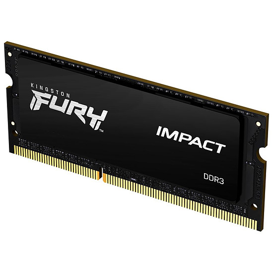 Mémoire Kingston Fury Impact SO-DIMM - 1 x 8 Go (8 Go) - DDR3 1600 MHz - CL9