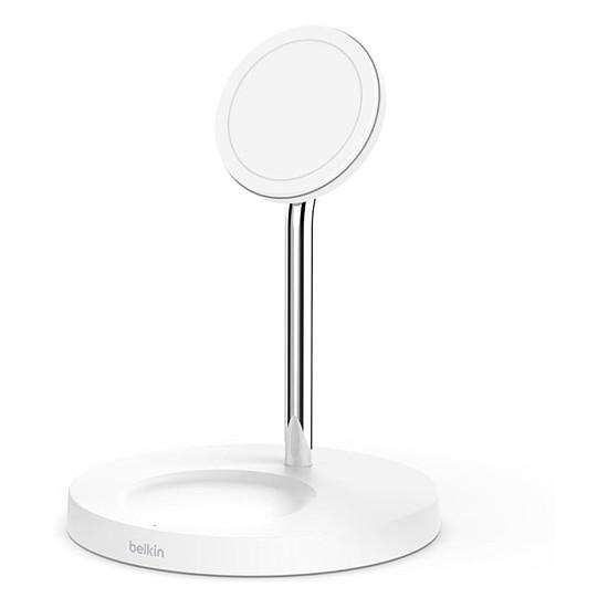 Chargeur Belkin Chargeur Magsafe 2 en 1 pour Iphone 12 - Blanc - 15 W