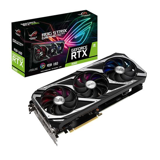 Carte graphique Asus GeForce RTX 3060 ROG STRIX V2 (LHR)