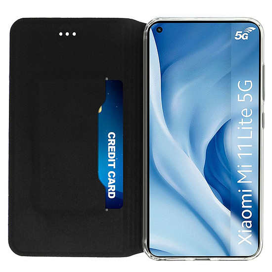 Coque et housse Akashi Etui Folio Porte Carte Noir Xiaomi Mi 11 Lite 5G