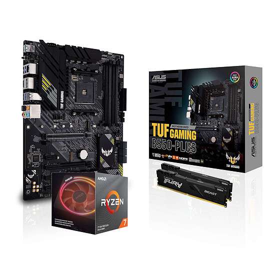 Kit upgrade PC AMD Ryzen 7 3700X - Asus B550 - RAM 16Go 3200MHz