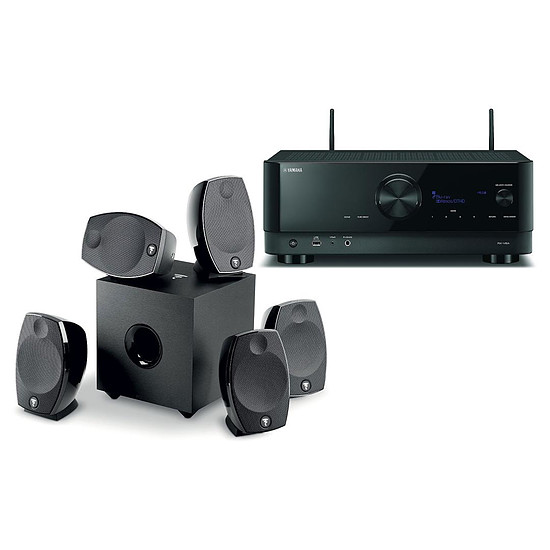 Ensemble Home-Cinéma Yamaha RX-V6A Noir + Focal Sib Evo 5.1
