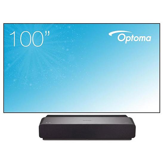 Vidéoprojecteur ViewSonic X1000-4K - DLP 4K UHD - 2400 Lumens + cadre Optoma ALR101 254 cm