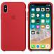 Coque et housse Apple Coque silicone (rouge) - iPhone X - Autre vue