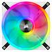 Ventilateur Boîtier Corsair QL120 RGB Blanc - Pack de 3 - Autre vue