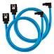 Serial ATA Câbles SATA gainés droits vers coudés (bleu) - 60 cm (lot de 2) - Autre vue