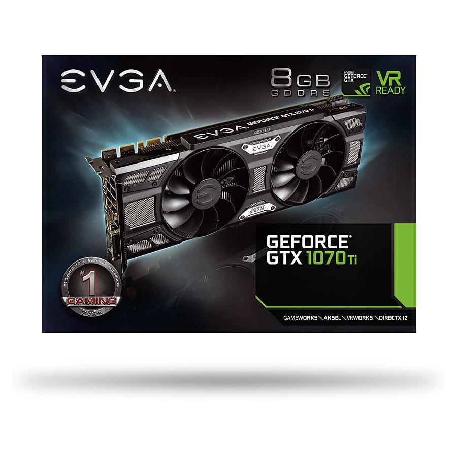 huge discount 42dbb 0b9f4 EVGA GeForce GTX 1070 Ti SC Black - 8 Go - Carte graphique EVGA sur  Materiel.net